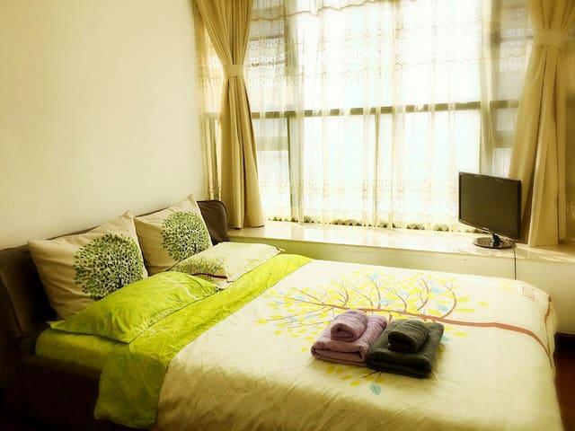 Cozy private room, 1 min to metro - Guangzhou Shi - Huoneisto