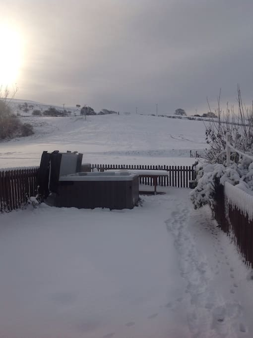 Winter at Pendre
