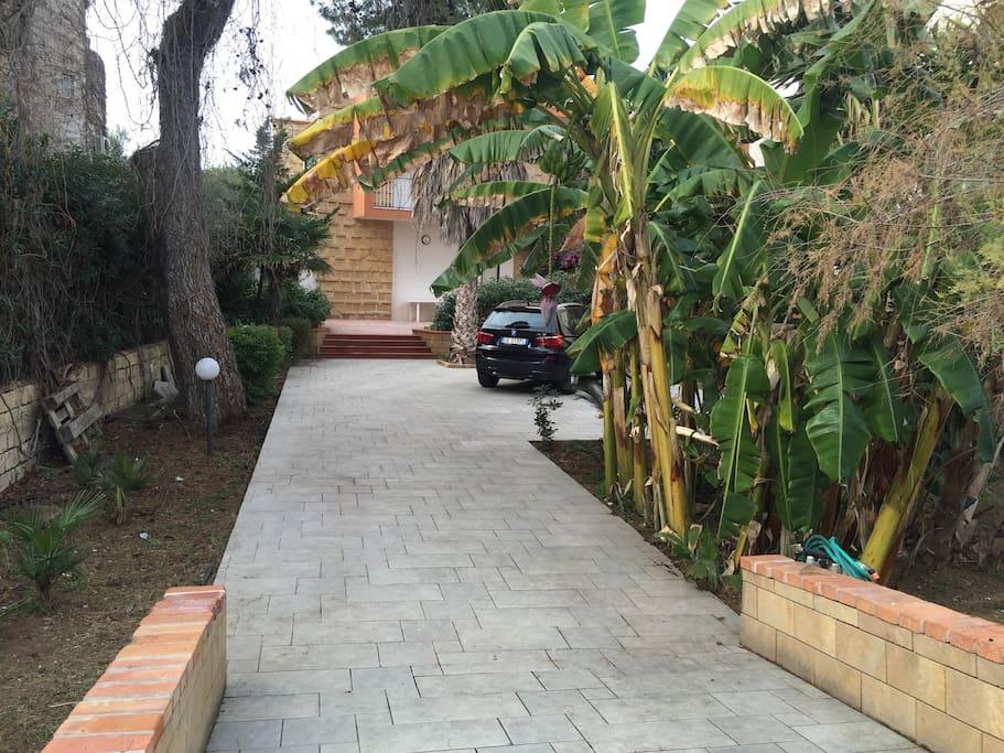 Ingresso e parking