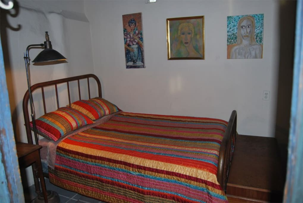 You may get this colorful bedspread!