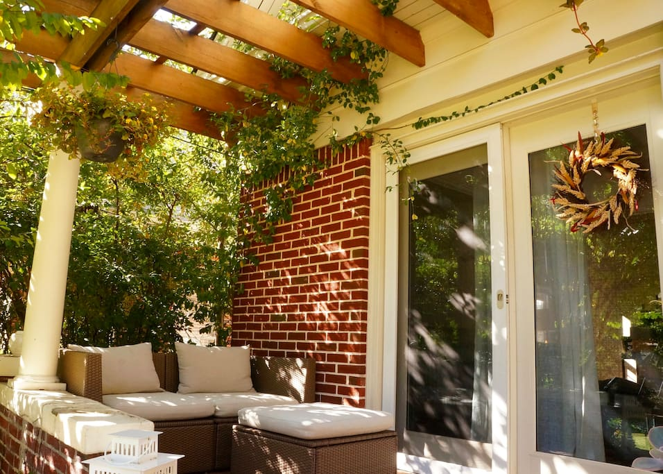 Cozy up with a good book or glass of wine on the front porch