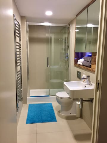PRIVATE luxury bathroom just for you :)  We provide towels, shampoo, shower bath, hairdryer and First Aid...