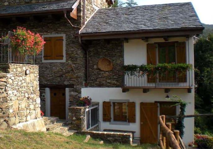 Rustico (3) con terrazzo e giardino - Cossogno - Dům
