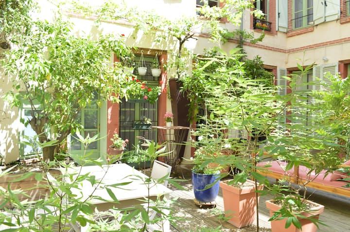 Chambre indépendante au calme avec accès patio