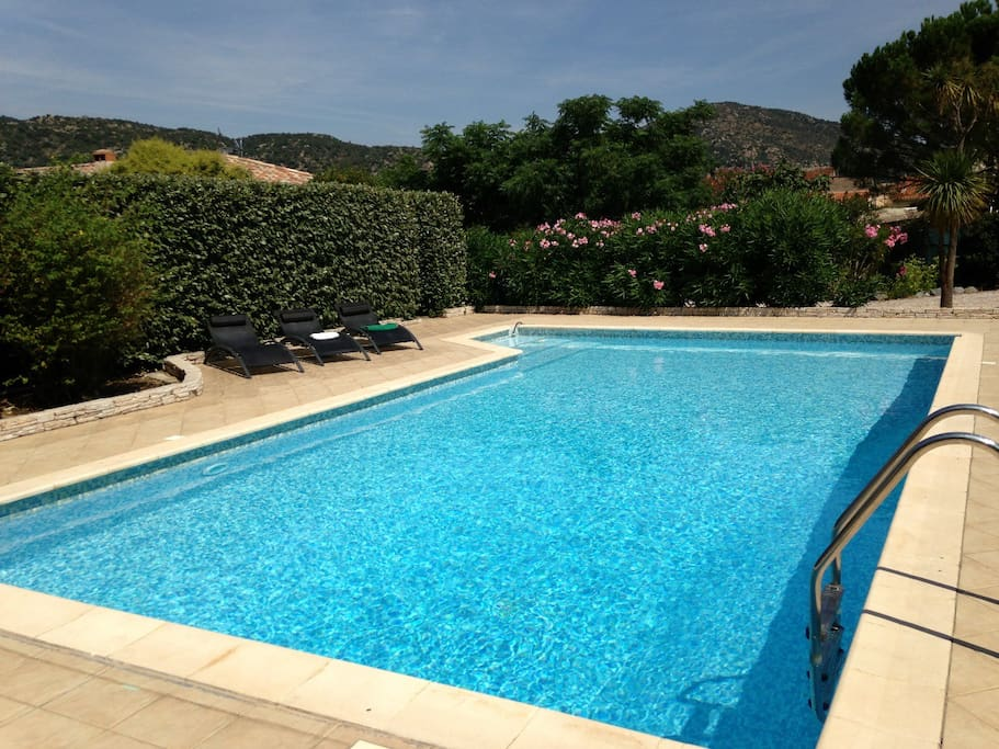 Private out door pool (22m x 5m)  Relax in the sun or in the shade, take a dip or a snooze.