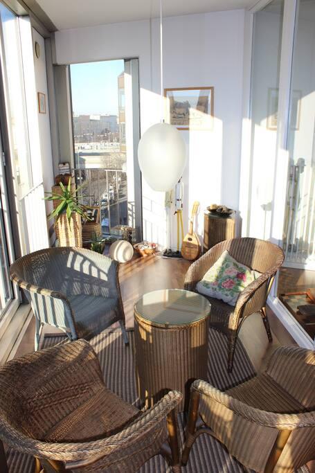 wintergarden at 6th floor - nice view