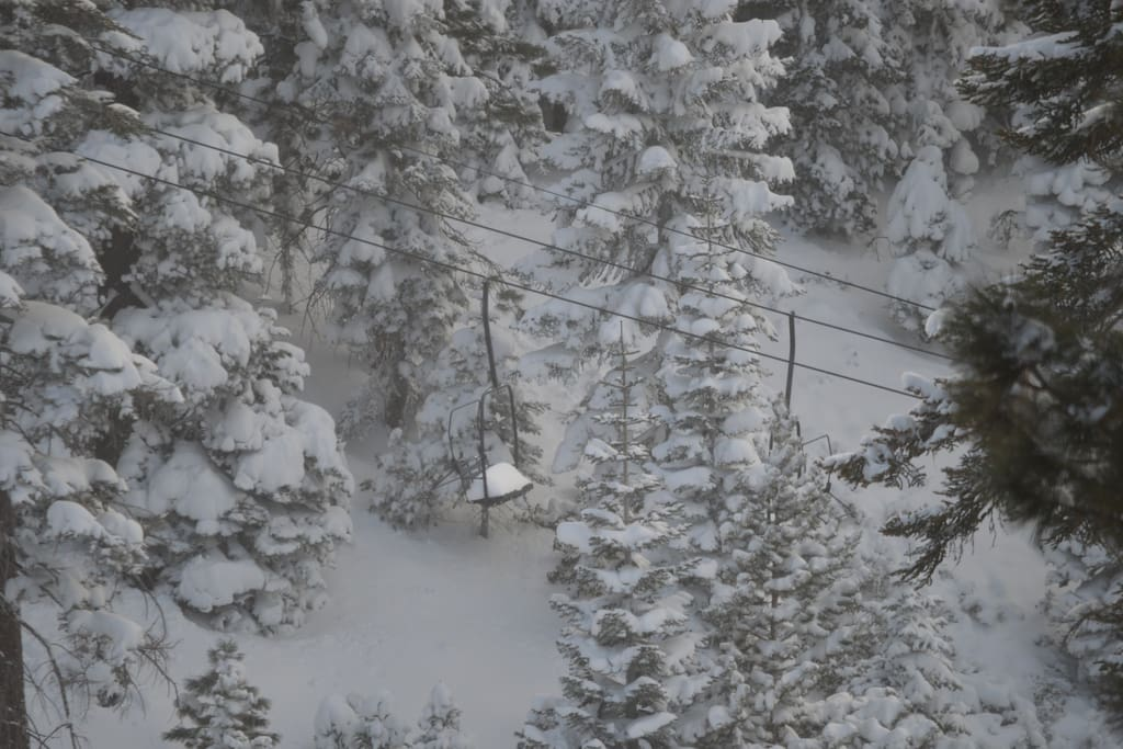 This is what you want to see out of a ski condo window