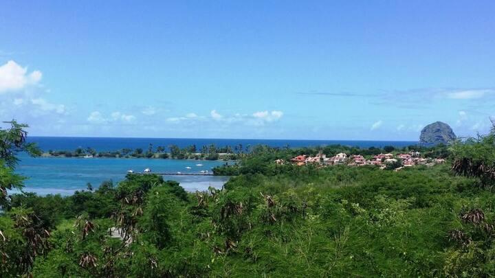 """Villa + bungalow, piscine, 100 m plage """"privative"""""""