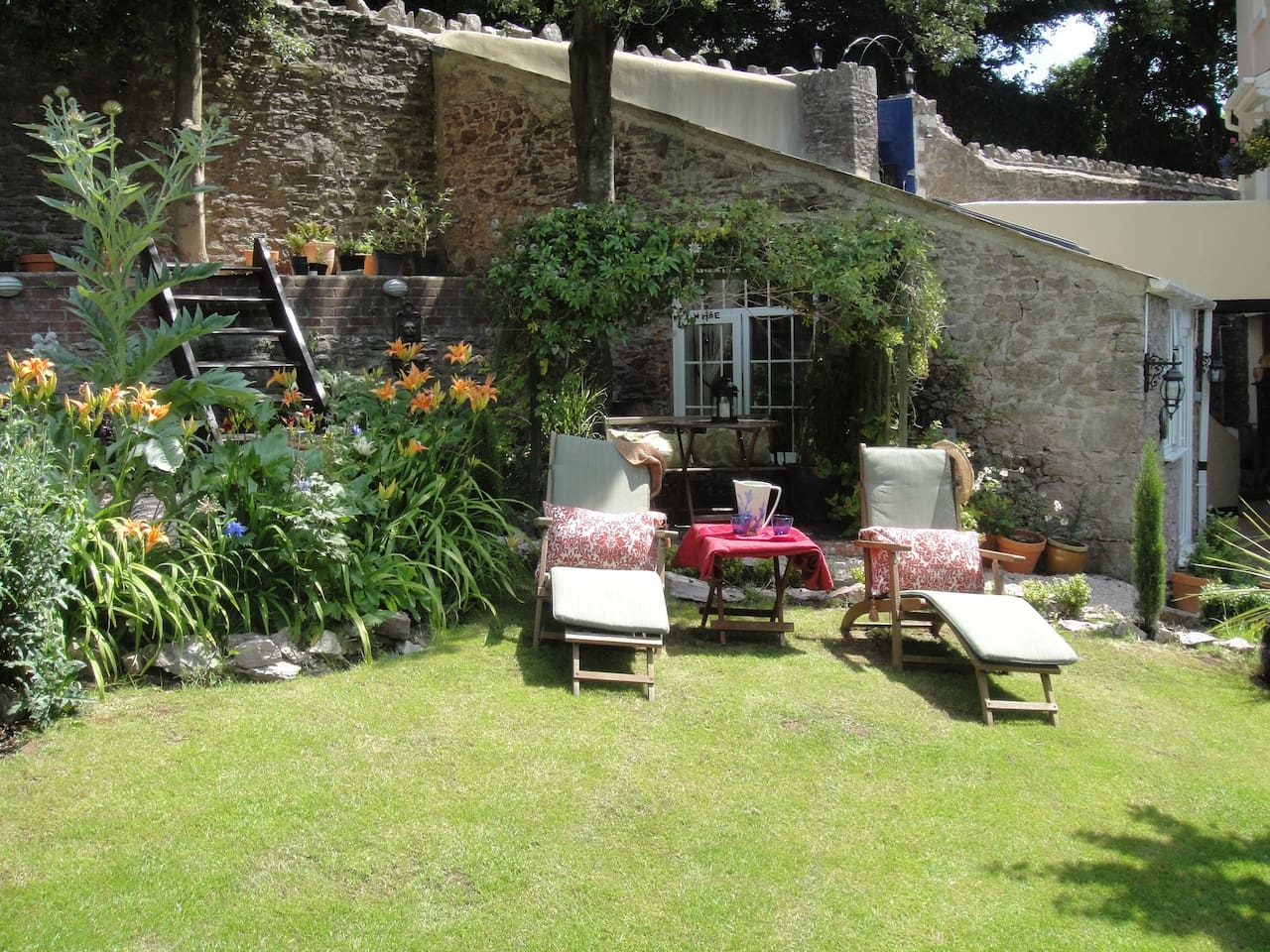 Enjoy the sunshine and a glass of Pimms in our sunny garden after a hard days' sightseeing or walking