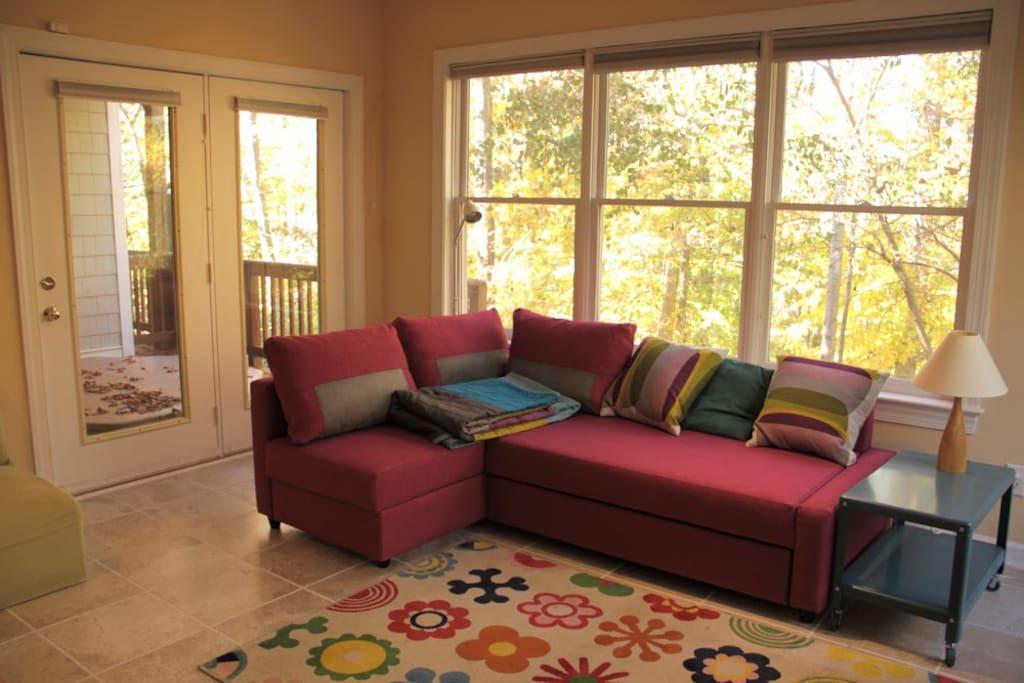 Brand new ikea sofa bed sleeps two.