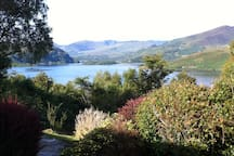 The views from the patio at Caragh Heights holiday home. Just off the main Ring of Kerry Road.