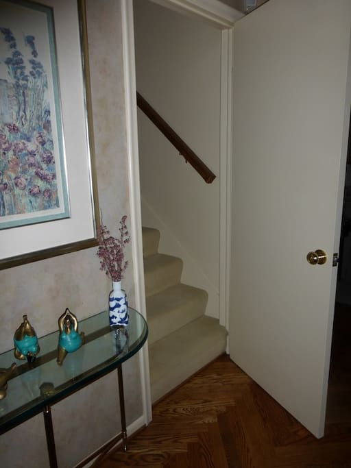 Private Staircase to Guest Suite