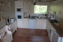The fully equipped kitchen. Dishwasher, Oven, Hob, Microwave etc.