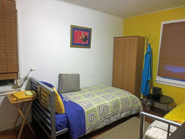 Two friends will find this room ideal. Two twin beds are available. Towels and washcloths as well as bathrobes are provided.
