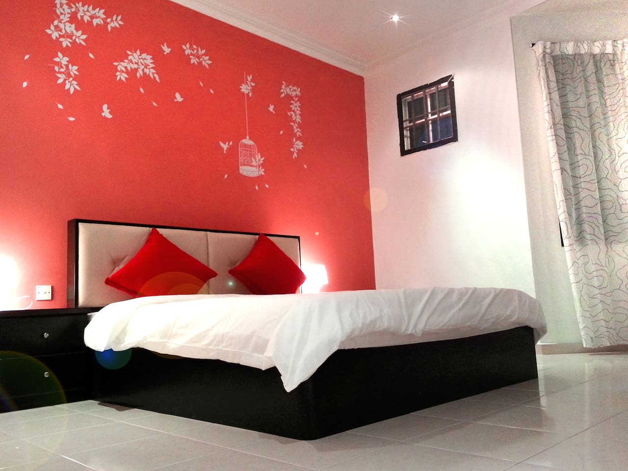 Spacious Master Room with Walk In Wardrobe & attached Toilet (Red)