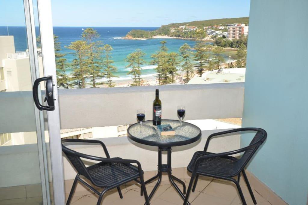 Enjoy the sea breezes from your balcony