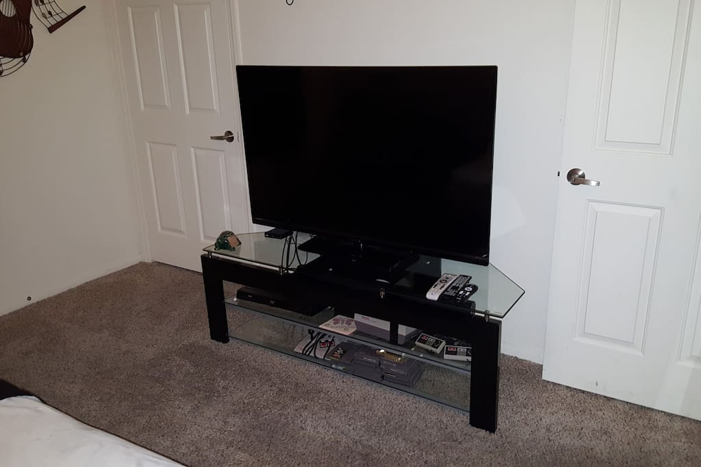 Large Flat screen Smart TV with Cable