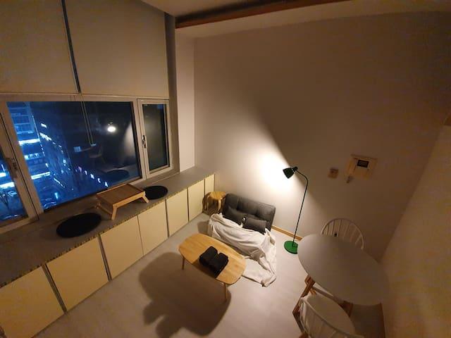 [Bucheon] 오픈특가! [부천시청,터미널5분] 편안한 복층공간 [순천향대학병원10분]