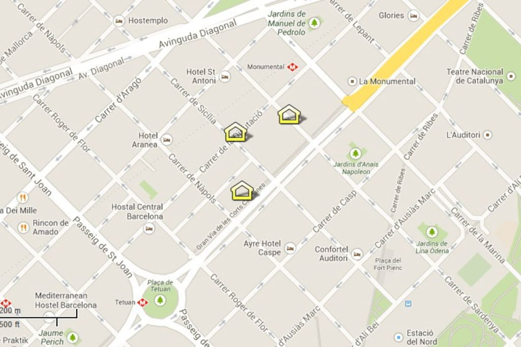 Sagrada Famlia area apartments locations