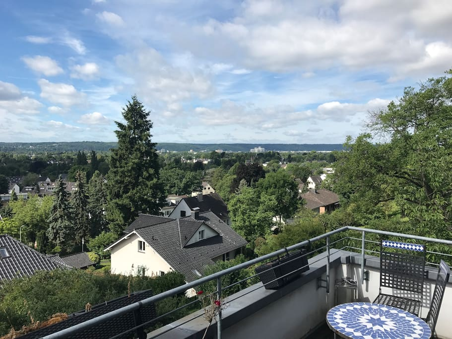 View from the upper balcony to Bonn