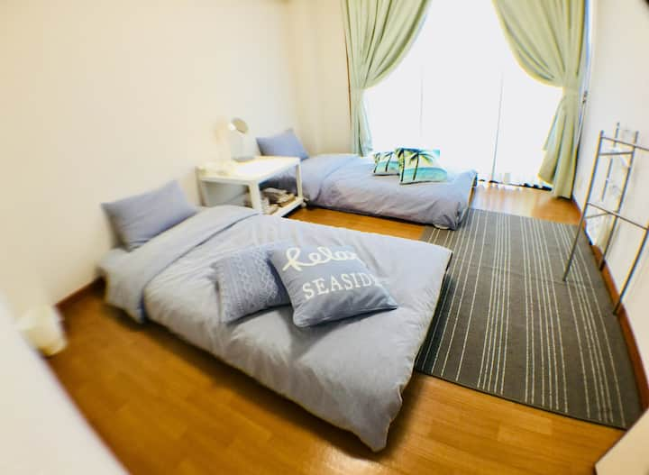 Convenient!JR TakamatsuSta.1min.4〜5person canstay.