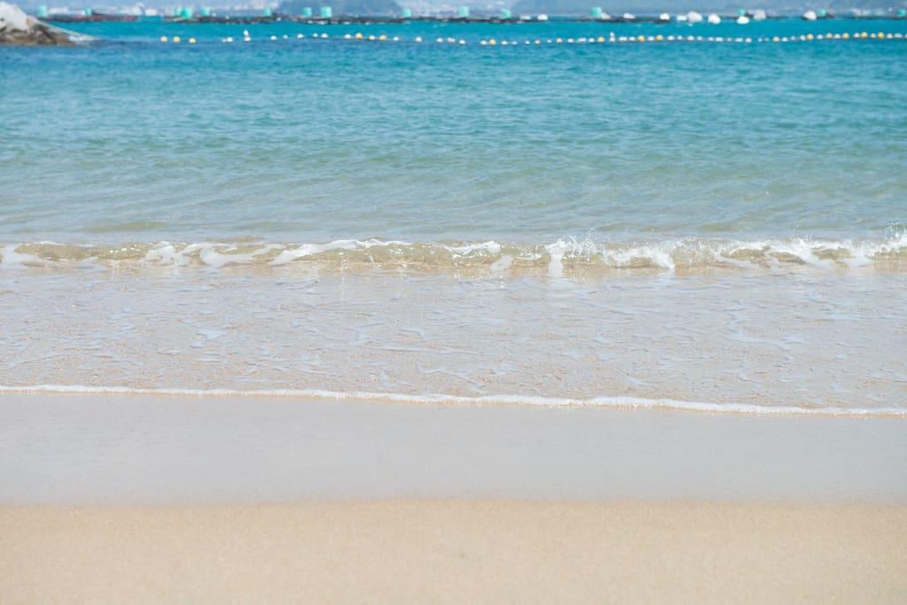 子供にも安心なビーチです