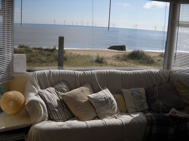Stunning sea views from the comfort of your sofa - you may even spot a seal or a dolphin in the sea!