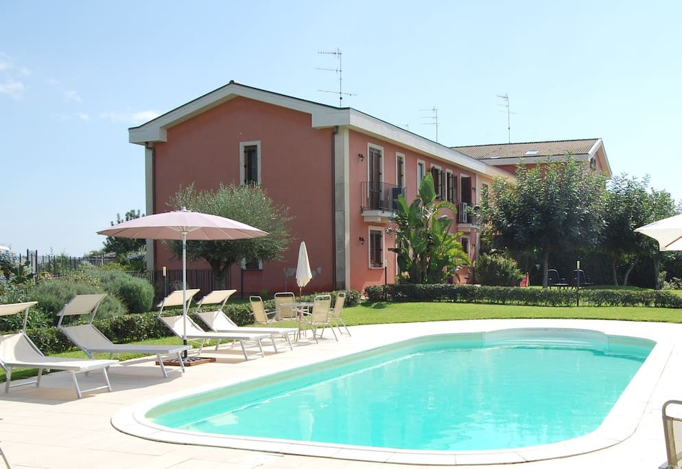 Apartment Etna And See View Pool Flats For Rent In