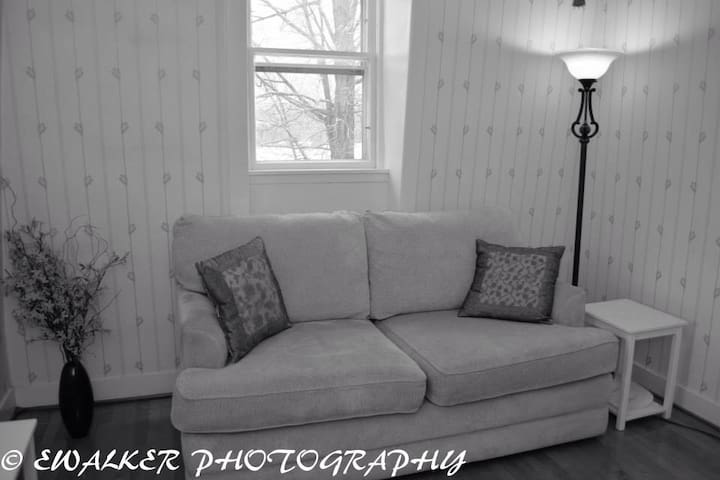 Sit and relax in your private sitting room or pull out to make sleeping room for a couple more guests.