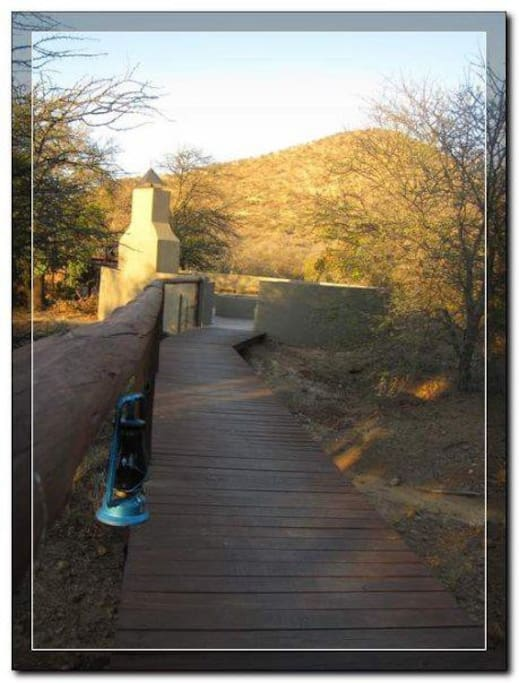 The Walkway leading up the the Boma area