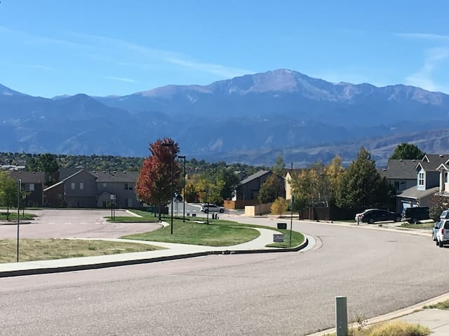 View of the mountains from the driveway