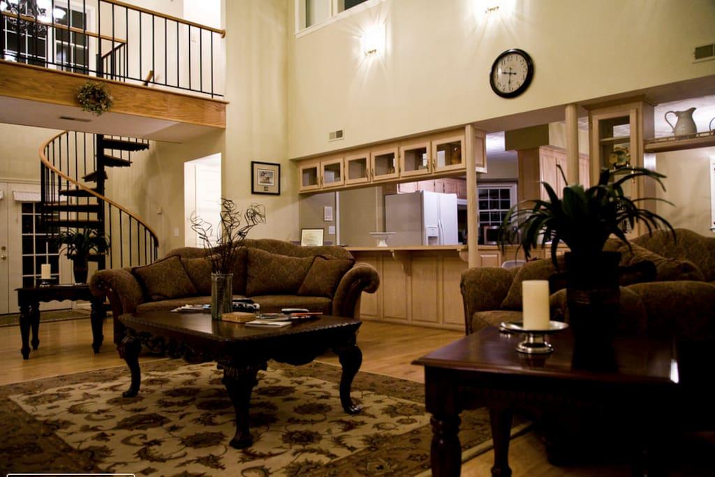 The Farmhouse Living Room is Cozy & Spacious