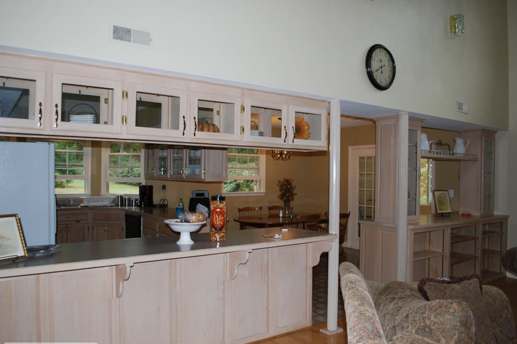 The kitchen features everything you need to prepare delicious homecooked meals for the family.