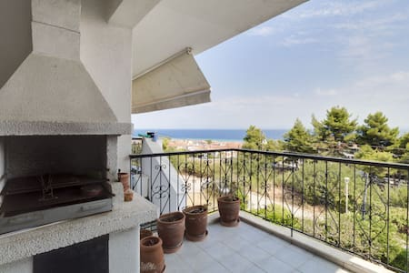 2 BD, Apartment, Sea view in Polichrono Kassandra - Polichrono