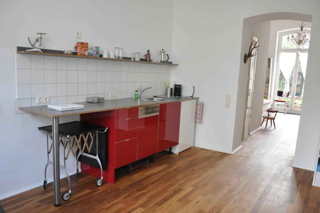 kitchen area with small cooking facilities / Teeküche
