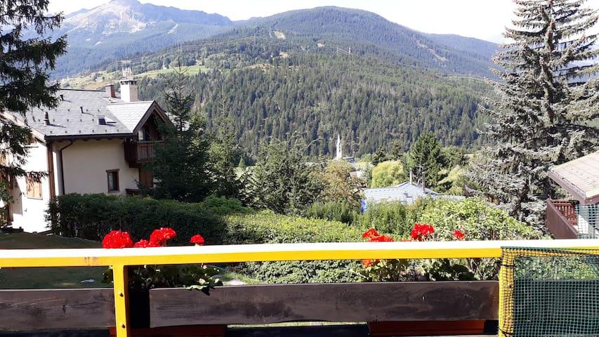 Trilocale vicinanze Bormio con vista panoramica.