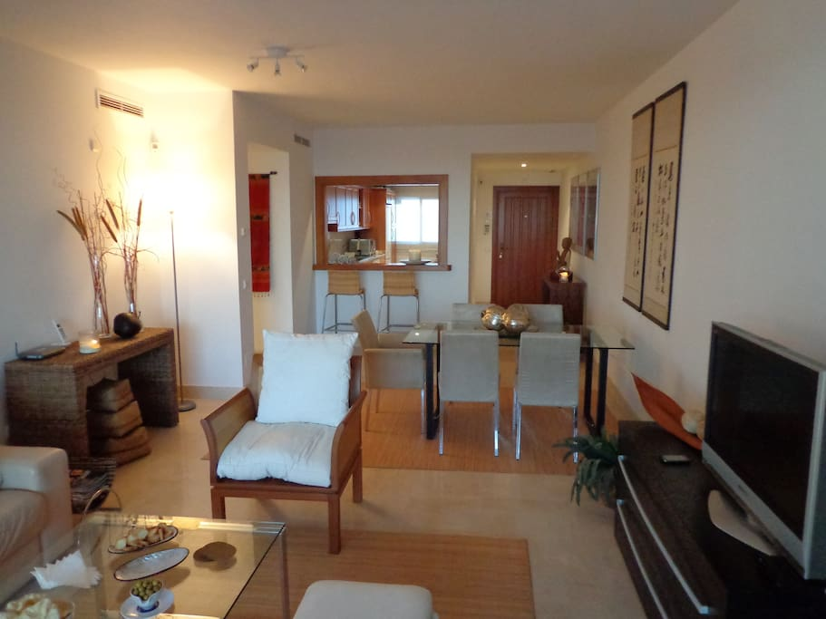 Spacious living and dining room comes with every amenity