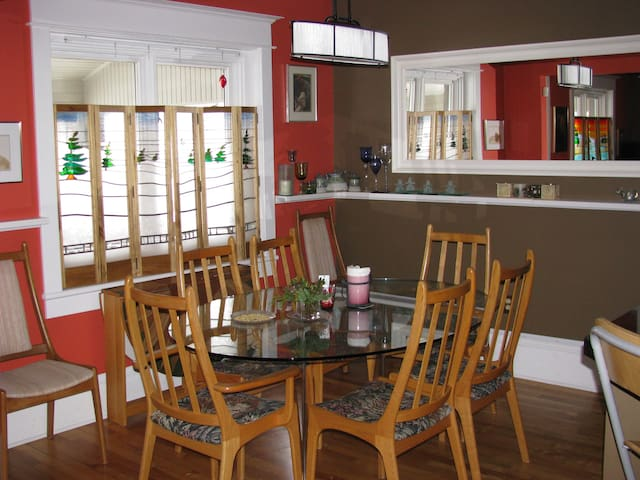 You are invited to 'break bread' with us in our dining room