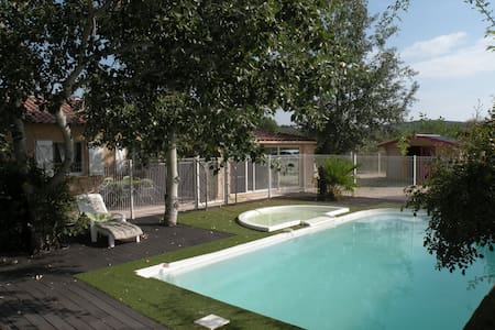 villa, piscine et jacuzzi pour 10 - Rousson