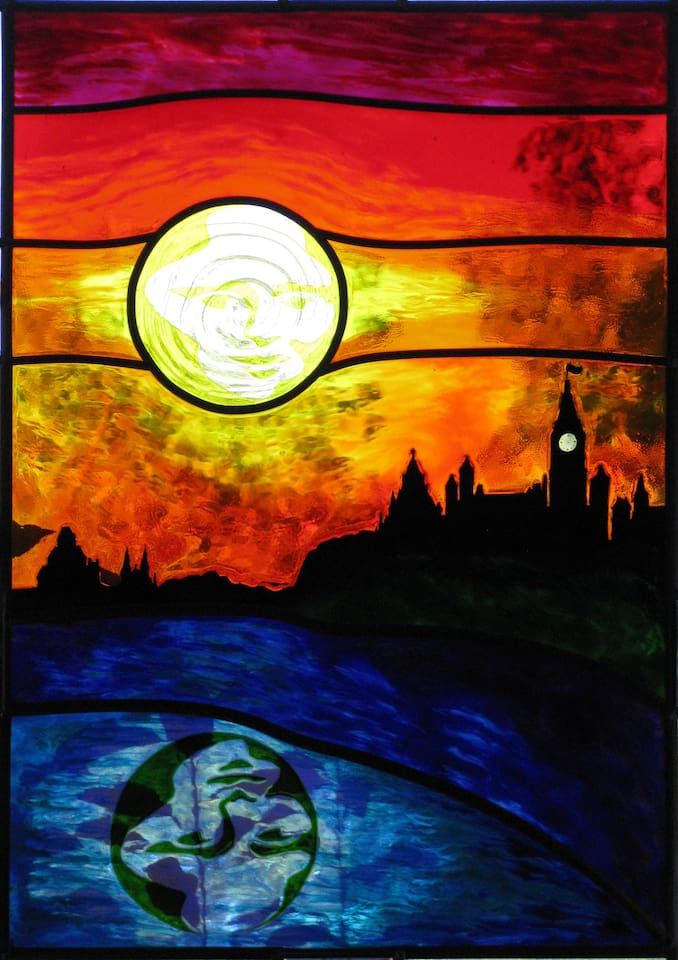 """Ottawa Skyline"" in AcrylArt window art by Lynette"