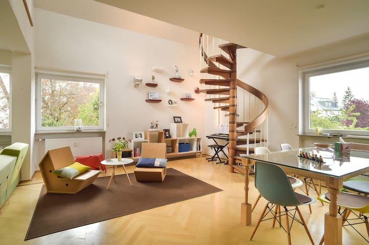 Sonnige Designerwohnung auf dem Killesberg