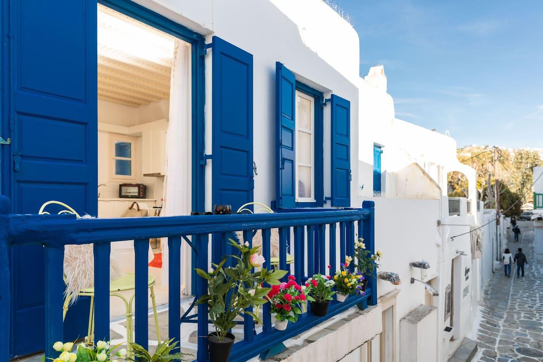 Balcony of izabela' house