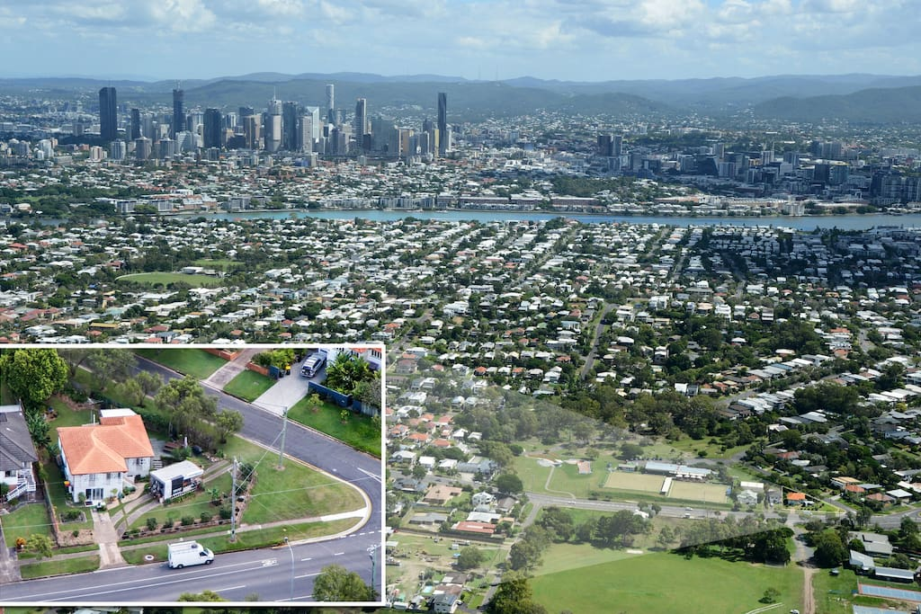 Great location close to the city, surrounded by large ovals, bowls club, skate bowl, dog park and parklands.