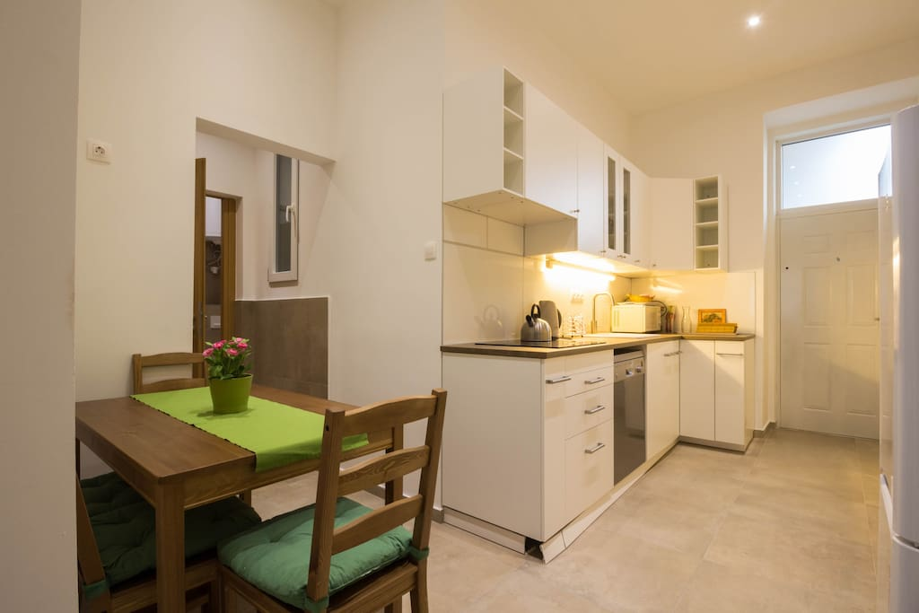 Kitchen with a dining room