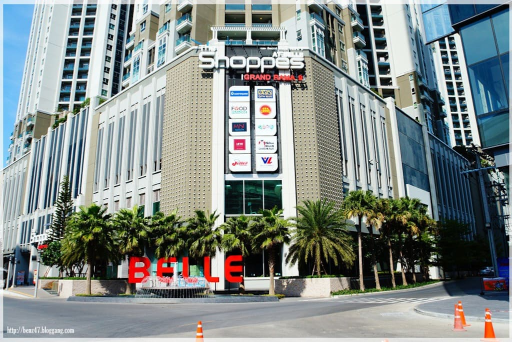 front view of belle condo.