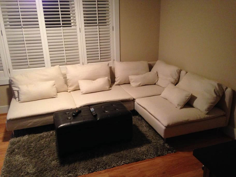 Couch - sleeps 1-2 adults comfortably