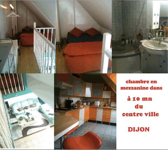 bedroom 10 mn frome downtown - Dijon - Apartamento
