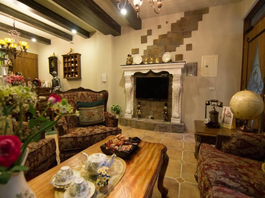 【巷邸】歐洲復古氣氛的客廳
