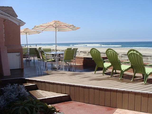 Oceanfront with Best Patio in Mission Beach