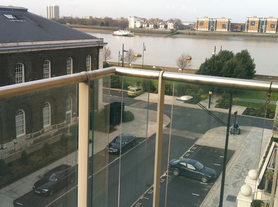 Right view from the balcony is river Thames